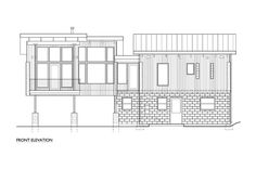 Modern Style House Plan - 2 Beds 2.5 Baths 1953 Sq/Ft Plan #890-6 - Houseplans.com Modern Wood House, Shed Roof, Cabins And Cottages, Modern Architecture House, House In The Woods, Future House, House Plans, Modern Design, Floor Plans