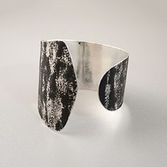 Sibilia Pintada Cuff - Lightweight metal cuff bends for adjustable fit and easy on and off. By Fernanda Sibilia, Buenos Aires.