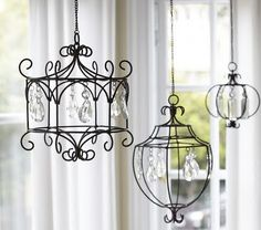 Hanging Crystal Wire Chandelier from Pottery Barn Kids