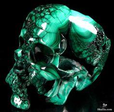Malachite Crystal Skull