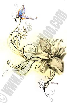 tatto flower drawings | Fine-Art-Tattoo » Flower