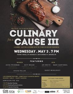 Culinary for a Cause III Chinese Auction, Kosher Recipes, Events