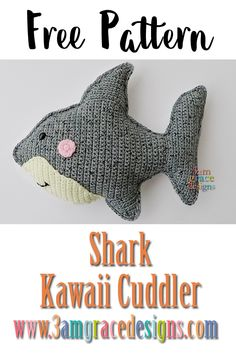 free shark crochet pattern amigurumi ragdoll rag doll See other ideas and pictures from the category menu…. Crochet Pattern Free, Crochet Gratis, Crochet Patterns For Beginners, Crochet Patterns Amigurumi, Crochet Dolls, Knitted Dolls, Crocheted Toys, Crochet Tutorials, Crochet Ideas