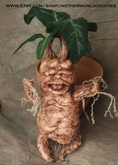 How to make a Mandrake sculpture with mold and casting process Tutorial