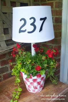 Solar Powered Front Porch Lamp and Planter