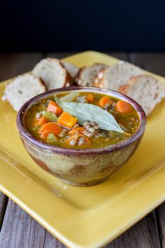 A soup with simple flavors, stacked with protein and iron, and amazing taste. This Greek lentil soup brings me the comfort of home every time. Greek Lentil Soup Recipe, Vegan Lentil Soup, Lentil Recipes, Vegan Soups, Soup Recipes, Vegetarian Recipes, Cooking Recipes, Vegan Vegetarian, Dinner Recipes