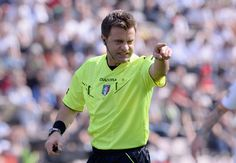Referee Nicola Rizzoli during the Serie A match between US Sassuolo Calcio and AS Roma on March 30, 2014 in Sassuolo, Italy.