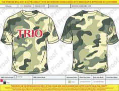 Camo Tee Shirt – Valdosta State University, TRIO Educational Talent Search #TRIOworks