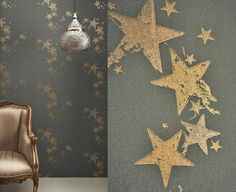 All Star Wallpaper by Barneby Gates Barneby Gates has a magic touch when it comes to wallpaper, and this star version is no exception. The metallic ink and texture make the stars look very classy. more » GBP 78.00 | Barneby Gates