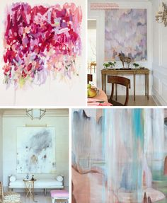Pretty art for a pretty home, especially Wendy Letven (bottom right) from Water, Land Air series.