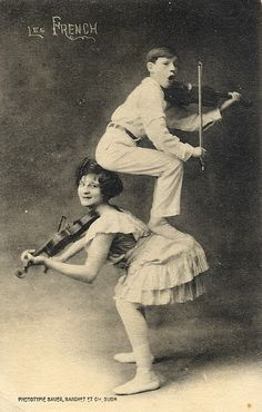 """""""Les French"""" Vaudeville Act, late 1800s                                                                                                                                                     More"""