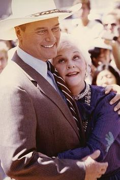 Mary Martin & Larry Hagman- she is such a proud mama