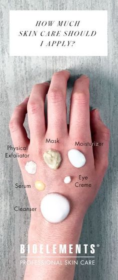 The right amount of skin care to apply + skin care routine order (INFOGRAPHIC) #HairCareTips