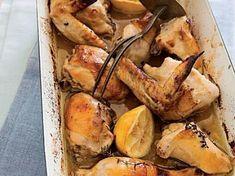 Kuře pečené na medu a citronu Camembert Cheese, Dairy, Meat, Chicken, Food, Lemon, Essen, Meals, Yemek
