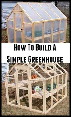 Greenhouse Plans 50384089567922407 - How To Build A Simple Green House Source by terideal Diy Greenhouse Plans, Simple Greenhouse, Greenhouse Effect, Backyard Greenhouse, Greenhouse Wedding, Pallet Greenhouse, Homemade Greenhouse, Large Greenhouse, Greenhouse Vegetables