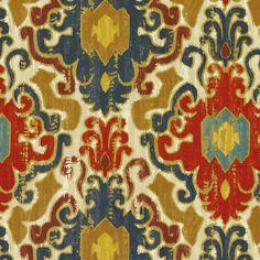 Love this fabric!! Home Decor Print Fabric- Swavelle Millcreek Toroli Twill Jewel, , hi-res