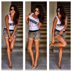 In love with these sequin shorts Celebrity Outfits, Celebrity Style, Shay Mitchell Style, Bachelorette Outfits, Bachlorette Party, Summer Outfits, Cute Outfits, Summer Wear, Summer Clothes