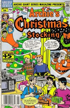 Cover for Archie Giant Series Magazine (Archie, 1954 series) Christmas Comics, Christmas Time, Christmas Specials, Christmas Stocking, Christmas Cards, Archie Betty And Veronica, Class Comics, Archie Comics Riverdale, Misfits