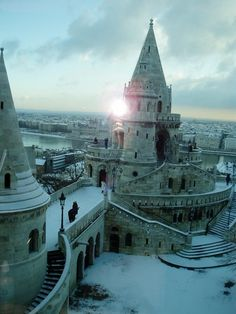 The Halászbástya (Fisherman's Bastion) in Budapest, Hungary - Kat Shultis