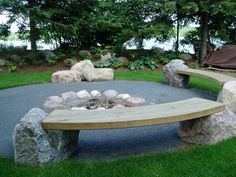 cool benches...great idea for the garden and/or firepit.