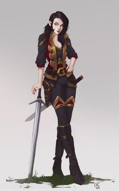 [OC] Commission of Sona Riversong - My Half-Elf Rogue : characterdrawing - Auden Johnson- Fantasy Author - Dungeons And Dragons Characters, Dnd Characters, Fantasy Characters, Female Characters, Fantasy Authors, Fantasy Character Design, Character Design Inspiration, Character Art, Female Character Concept