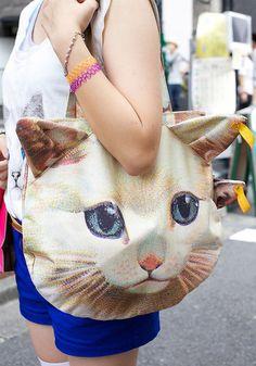 3D Cat Shoulder Bag + Purse