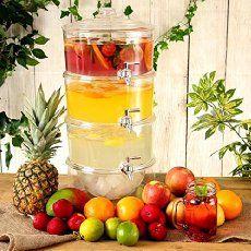 3-Tier Drink Dispenser 7._.5ltr | bar@drinkstuff | Gift Boxed | Tiered Beverage Dispenser, Juice Dispenser, Punch Dispenser, Lemonade Dispenser