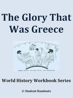 Ancient Greece History Workbook - Free to print (PDF file). 19 pages. For high school students. Roman History, European History, Ancient History, History Activities, Teaching History, High School World History, Greece History, History Classroom, Teaching Social Studies