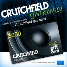 I just entered to win a $250 @Crutchfield rewards card in their Great Gear Giveaway (Sept. 9-27)! #WIN