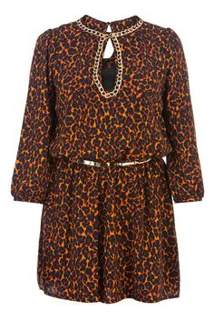 RELISH Vestido estampado en print de leopardo color naranja y negro 119,00 €
