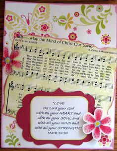 Hymn and Scripture page by Carol at Memories and More