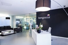 LivingSocial office by The Interiors Group, London office design  |  Lobby design