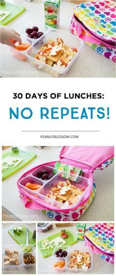 30 days of kids school lunch ideas: No Repeats! 30 Days of school lunches: no repeats! Easy tricks for getting those lunch boxes filled fast, even on busy mornings. Kid friendly, mom approved food ideas that make everyone happy. Cold Lunches, Lunch Snacks, Snacks Kids, Healthy Kids, Healthy Snacks, Healthy Recipes, Detox Recipes, Happy Healthy, Lunch Box Recipes