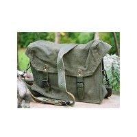 Sac/Musette en toile anse en cuir - Olive - Occasion Rangers, Occasion, Bradley Mountain, Backpacks, Shoe, Leather, Toile, Bag, Backpack