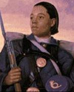 """Cathay Williams, first black female to enlist in the U.S. Army and only female Buffalo soldier . On Nov. 15, 1866, Cathay Williams enlisted in the Army using the name William Cathay. She informed her recruiting officer that she was a 22-year-old cook. He described her as 5' 9"""", with black eyes, black hair and black complexion. She was assigned to the 38th U.S. Infantry.  No one discovered she was a female. Cathay Williams was born into slavery in Independence Missouri in 1842."""