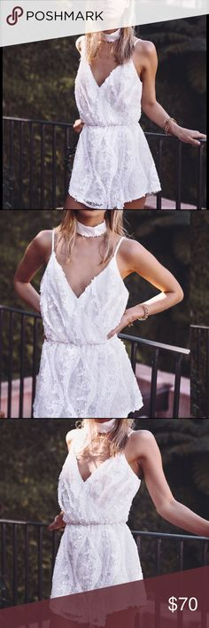 Sabo skirt sabo luxe white playsuit romper From Sabo Luxe - NWT! Size small .. I don't have the choker :( Sabo Skirt Dresses