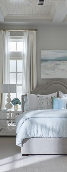pretty beach house bedroom