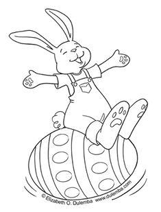 dulemba: Coloring Page Tuesday - Rockin' Bunny!
