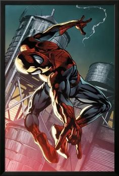 Lamina Framed Poster: The Amazing Spider-Man #700.4 Cover: Spider-Man by Pasqual Ferry : 38x26in