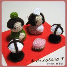 おひなさま♪ の作り方|編み物|編み物・手芸・ソーイング|ハンドメイド | アトリエ