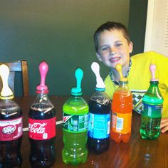 Pop Rocks and Soda Science Fair Project.  More at http://dangercook.com