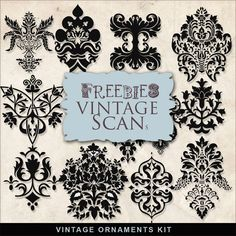 Far Far Hill - Free database of digital illustrations and papers: Freebies Vintage Ornaments Kit