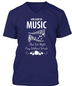 Music T Shirts And Hoodies Navy T-Shirt