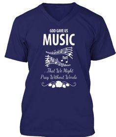 Music T Shirts And Hoodies Navy T-Shirt