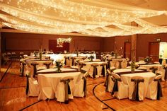 ceiling decorations for weddings receptions | The ceiling canopy made you forget you were in a cultural hall and ...