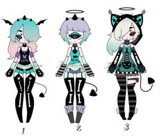 Monster girls adoptable batch CLOSED by AS-Adoptables.deviantart.com on @DeviantArt