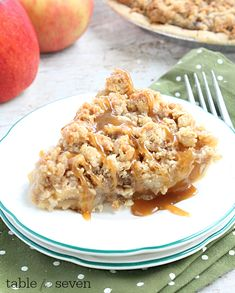 The classic apple pie with a crunchy top and drizzled with warm caramel..