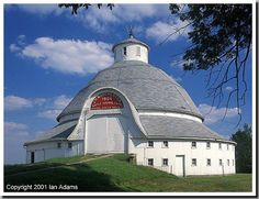J.H. Manchester Barn, largest round barn east of the Mississippi   ..rh