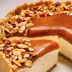 Caramel and Almond Cheesecake Cheesecake Recipes, Cookie Recipes, Dessert Recipes, Orange Zest Cake, Cheesecakes, Baileys Cake, Ricardo Recipe, Glaze For Cake, Ginger Cookies