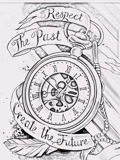 23 Trendy Tattoo Compass Shoulder Pocket Watches – Watch for everyone Pocket Watch Tattoos, Pocket Watch Drawing, Pocket Watch Tattoo Design, Clock Tattoo Design, Tattoo Design Drawings, Time Tattoos, Body Art Tattoos, New Tattoos, Tattoos For Guys